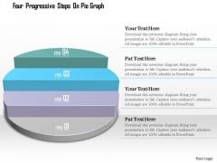 Business Diagram Four Progressive Steps On Pie Graph Presentation Template