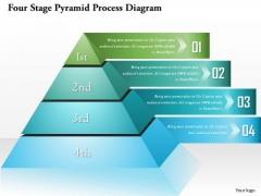 Business Diagram Four Stage Pyramid Process Diagram Presentation Template