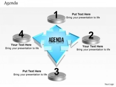 Business Diagram Four Staged Agenda With Text Boxes Presentation Template