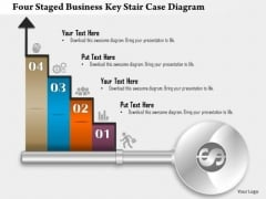 Business Diagram Four Staged Business Key Stair Case Diagram Presentation Template