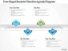 Business Diagram Four Staged Business Timeline Agenda Diagram Presentation Template