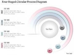 Business Diagram Four Staged Circular Process Diagram Presentation Template