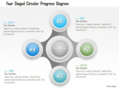 Business Diagram Four Staged Circular Progress Diagram Presentation Template