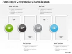 Business Diagram Four Staged Comparative Chart Diagram Presentation Template