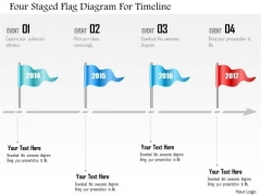 Business Diagram Four Staged Flag Diagram For Timeline Presentation Template