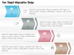 Business Diagram Four Staged Infographics Design Presentation Template