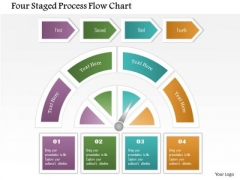 Business Diagram Four Staged Process Flow Chart Presentation Template