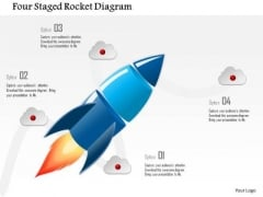 Business Diagram Four Staged Rocket Diagram Presentation Template