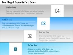 Business Diagram Four Staged Sequential Text Boxes Presentation Template