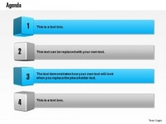 Business Diagram Four Staged Text Boxes For Displaying Business Agenda Presentation Template