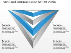 Business Diagram Four Staged Triangular Design For Text Display Presentation Template