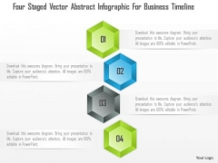 Business Diagram Four Staged Vector Abstract Infographic For Business Timeline Presentation Template
