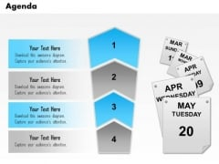 Business Diagram Four Staged Vertical Process Agenda Diagram Presentation Template