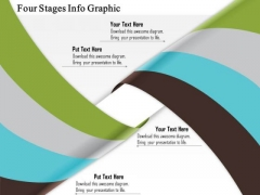 Business Diagram Four Stages Info Graphic Presentation Template