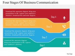 Business Diagram Four Stages Of Business Communication Presentation Template