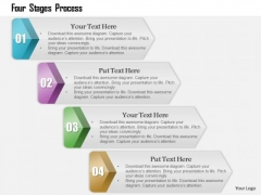 Business Diagram Four Stages Process Presentation Template