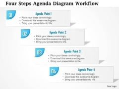 Business Diagram Four Steps Agenda Diagram Workflow Presentation Template