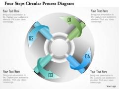Business Diagram Four Steps Circular Process Diagram Presentation Template