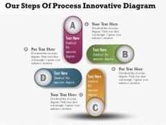 Business Diagram Four Steps Of Process Innovative Diagram Presentation Template
