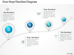 Business Diagram Four Steps Timeline Diagram Presentation Template