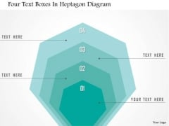 Business Diagram Four Text Boxes In Heptagon Diagram Presentation Template
