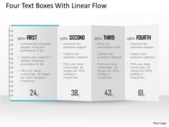Business Diagram Four Text Boxes With Linear Flow Presentation Template