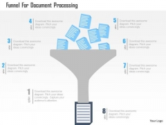 Business Diagram Funnel For Document Processing Presentation Template