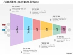 Business Diagram Funnel For Innovation Process Presentation Template