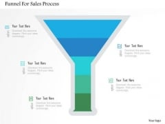 Business Diagram Funnel For Sales Process Presentation Template