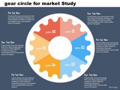 Business Diagram Gear Circle For Market Study Presentation Template