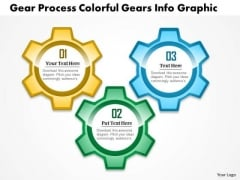 Business Diagram Gear Process Colorful Gears Info Graphic Presentation Template