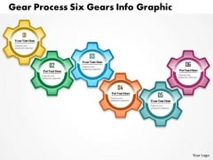 Business Diagram Gear Process Six Gears Info Graphic Presentation Template