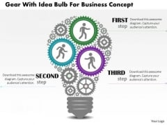 Business Diagram Gear With Idea Bulb For Business Concept Presentation Template