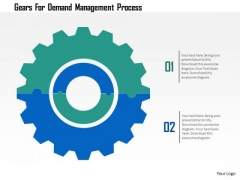 Business Diagram Gears For Demand Management Process Presentation Template