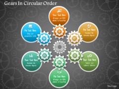 Business Diagram Gears In Circular Order Presentation Template