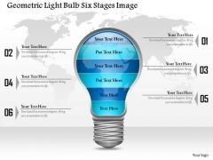 Business Diagram Geometric Light Bulb Six Stages Image Presentation Template