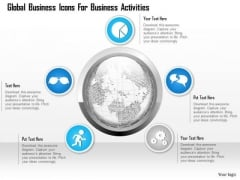 Business Diagram Global Business Icons For Business Activities Presentation Template