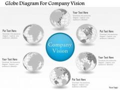 Business Diagram Globe Diagram For Company Vision Presentation Template
