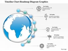 Business Diagram Globe With Timeline And Roadmap Diagram Presentation Template