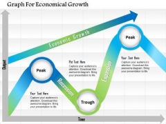 Business Diagram Graph For Economical Growth Presentation Template