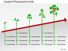 Business Diagram Graph Of Financial Growth Presentation Template