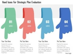 Business Diagram Hand Icons For Strategic Plan Evaluation Presentation Template