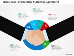 Business Diagram Handshake For Exclusive Marketing Agreement Presentation Template