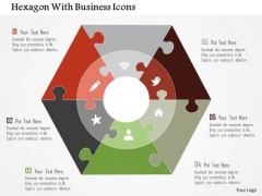 Business Diagram Hexagon With Business Icons Presentation Template
