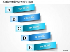 Business Diagram Horizontal Process 5 Stages Presentation Template