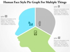 Business Diagram Human Face Style Pie Graph For Multiple Things Presentation Template