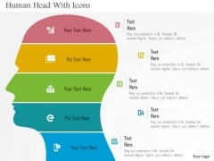 Business Diagram Human Head With Icons Presentation Template