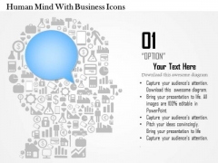 Business Diagram Human Mind With Business Icons Presentation Template
