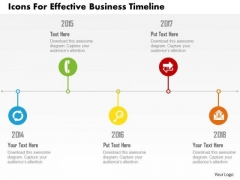 Business Diagram Icons For Effective Business Timeline Presentation Template