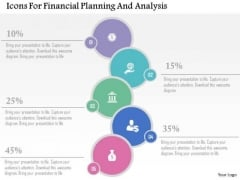 Business Diagram Icons For Financial Planning And Analysis Presentation Template